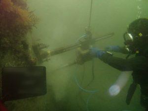 水中コア削孔 その3