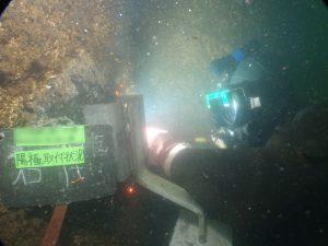 水中溶接工事 その2